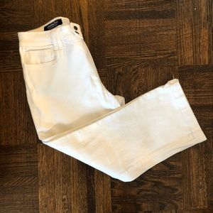 London Jeans Cropped White Straight Jeans